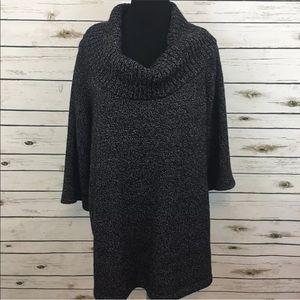 Karen Scott Cowl Neck Sweater 2X Cozy Tunic